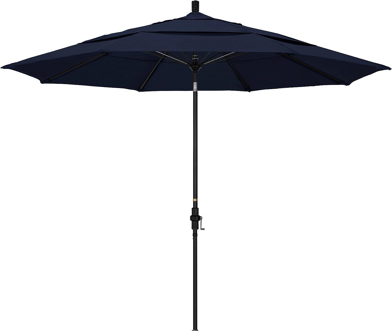 Max 48% OFF California Umbrella GSCUF118705-F09-DWV Black Max 78% OFF Po Patio