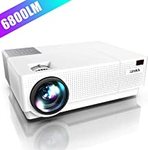 Projector, YABER Native 1920x 1080P Projector 6800 Lumens Upgrade Full HD Video..