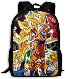 Casual College School Daypack, Big Capacity Backpck for School Outdoors Running, Travel and Sport Backpack Rucksack for Men Women Girls Boys (Goku All Transformations)