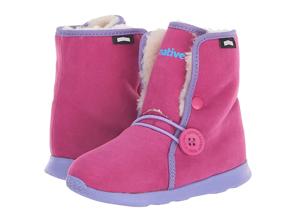 Native Kids Shoes Luna Child Boot (Toddler/Little Kid) (Resort Pink/Thistle Purple/Bone White) Girls Shoes
