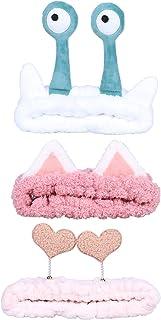 Jixin4you 3 Pieces Spa Headband – Women Hair Bands Makeup Head Band Coral Fleece Elastic Headbands Washing Face Hair Wrap ...