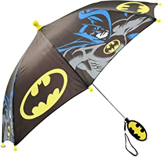 Little Boys Batman Character Rainwear Umbrella, Black/Yellow, Age 3-7