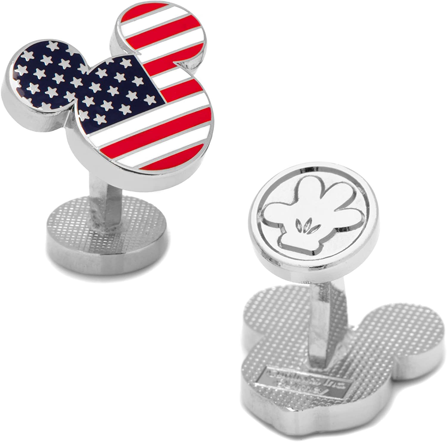 Disney Stars and Stripes Mickey Mouse Cufflinks, Officially Licensed