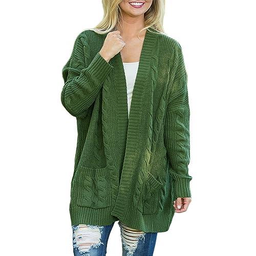 3a8143b778b Dearlove Women s Oversized Long Sleeve Open Front Knit Cardigan Sweater  Pocket S-XXL