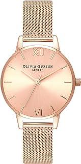 Olivia Burton Womens Quartz Watch, Analog Display and Stainless Steel Strap OB16MD84