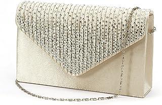 51c76a9451c Nodykka Women Evening Envelope Handbag Party Bridal Clutch Purse Shoulder  Cross Body Bag
