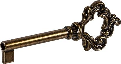 Gedotec Baardsleutel kast gekleurde baardsleutel voor meubelslot reservesleutel decoratie - LUDWIG | 38 mm | messing bruin...