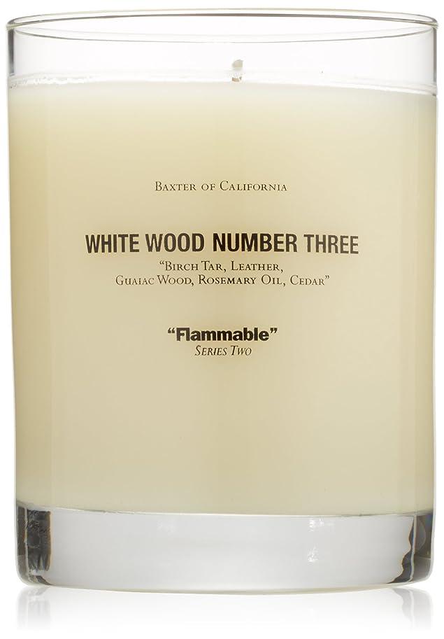 明確なアルバニー提案Baxter OF CALIFORNIA(バクスター オブ カリフォルニア) ホワイトウッドキャンドルthree 255g