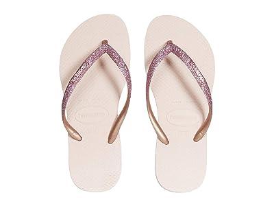 Havaianas Kids Slim Shiny Sandals (Little Kid/Big Kid) (Ballet Rose) Girl