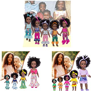 Lixiliw African American Baby Doll The Best Gifts of 2020 Girl Doll American Baby Doll 13.7inch/35 cm A Doll That Can Alwa...