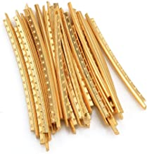Vencetmat 20Pcs Brass Curved Frets for Acoustic Guitar Fingerboard Fret Wire Replacing Gold