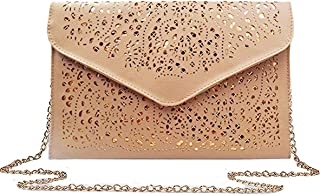 DREAMER Women Envelope Clutch Bag Cut Out Chain Shoulder Bag