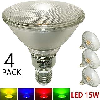 15W LED Green PAR38 Bulb,120Volt,E26 Base,Glass Body,Waterproof,
