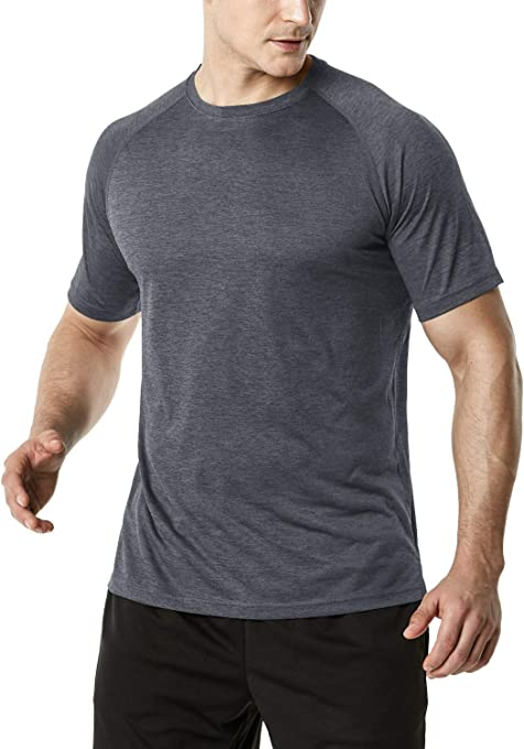 Tesla Men's HyperDri & Dynamic Cotton Short Sleeve Athletic T-Shirt Quick Dry Sports Top