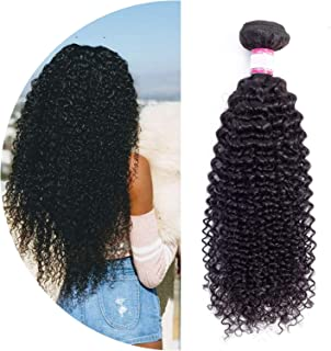 Curly Hair 1/3/4 pc 8-26inch Brazilian Hair Weave Bundles Non Remy Human Hair Extensions,10 10 12,Natural Color,China