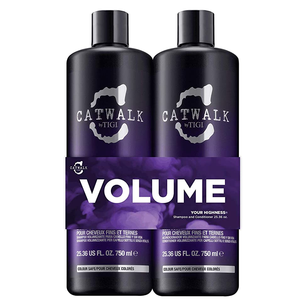 TIGI Catwalk Your Highness Volume Tween, 25.36 Oz Volumizing Shampoo and Conditioner Duo