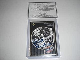 Wilt Chamberlain Kansas Jayhawks,76ers,hof Auto Scoreboard/coa Signed Card - Autographed College Cards