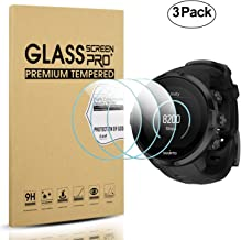 Diruite 3-Pack for Suunto Spartan Sport Tempered Glass Screen Protector for Sport HR / Wrist HR / Baro / Ultra / Ultra HR GPS Watch [Anti-Scratch] [Perfectly Fit] - Permanent Warranty Replacement