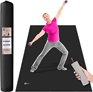 CAMBIVO Large Exercise Mat, 6' x 4' x 1/4 Workout Mats for Home Gym Flooring, High Density, Shoe Friendly, Durable Wide Cardio Mat, Ideal for Plyo, MMA, Jump Rope, Stretch, Fitness
