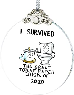 Best IFOLAINA 2020 Christmas Ornaments I Survived The Great Toilet Paper Crisis Quarantine Gift Christmas Tree Hanging Ornaments Present Friends Survive Novelty Souvenir Pendant Review