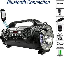 Boytone BT-50GR Portable Bluetooth Boombox, Indoor/Outdoor 2.1 Hi-Fi Cylinder Loud sound Built-In 2 x 5