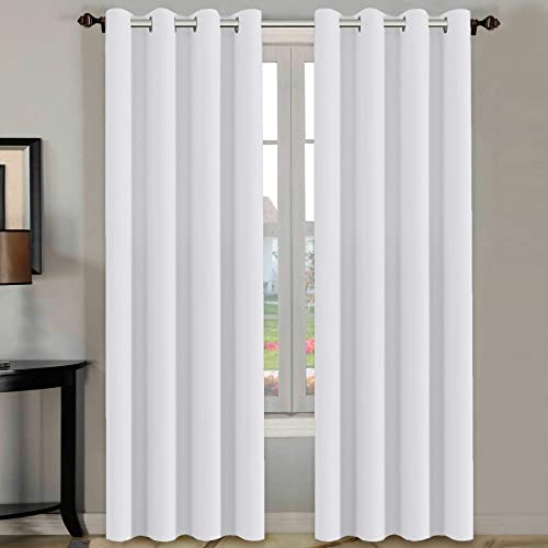 H.VERSAILTEX White Curtains 84 inches Long for Living Room Thermal  Insulated Window Treatment Panels f93f28cf36e25