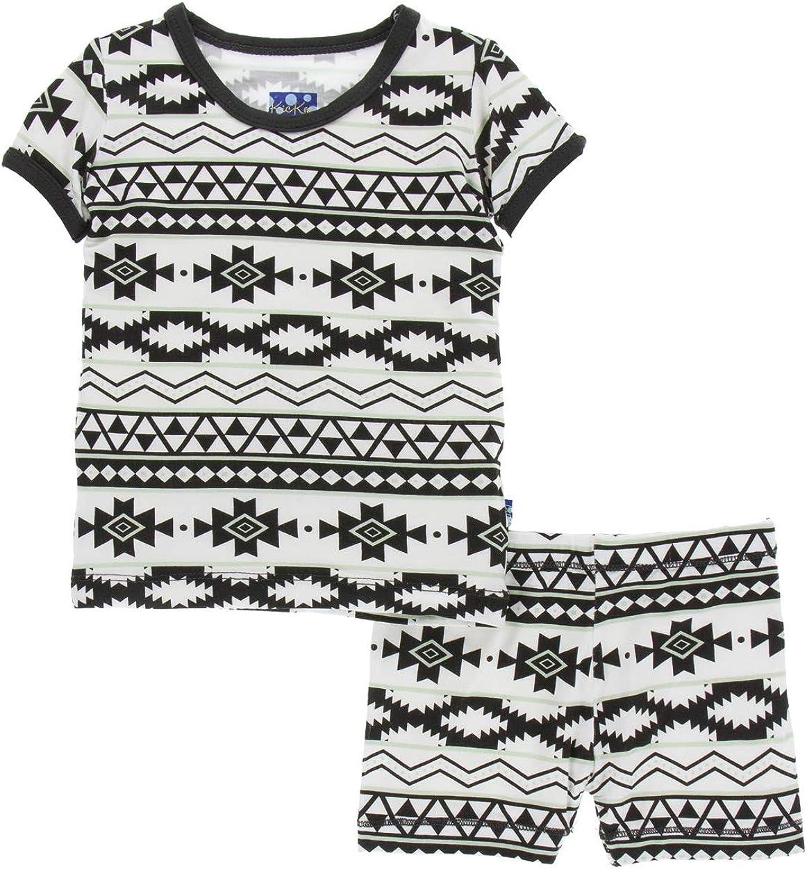 KicKee Max 55% OFF Pants Little Inexpensive Boys Print Short Set Shor with Pajama Sleeve