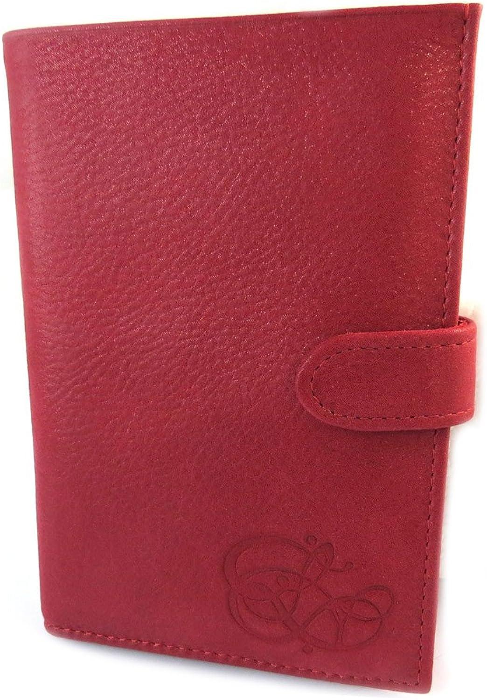 Les Trésors De Lily [N9039]  Wallet leather glitter 'Les Trésors De Lily' red (3 flaps) 15x10.5x2 cm (5.91''x4.13''x0.79'').