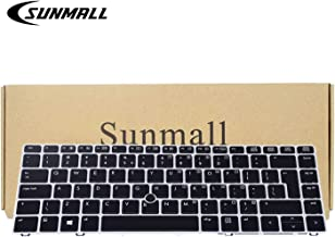 SUNMALL Backlit Keyboard Replacement with Big Enter Key and Mouse Pointer Compatible with HP Elitebook Folio 9470m 9480m Series Laptop (6 Months Warranty)
