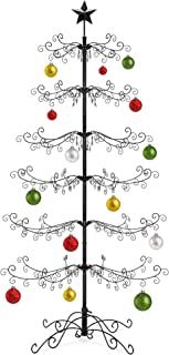 Best Choice Products 6ft Wrought Iron Ornament Display Christmas Tree w/Easy Assembly, Stand
