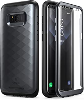 Galaxy S8 Case, Clayco [Hera Series] [Updated Version] Full-Body Rugged Case with Built-in Screen Protector for Samsung Galaxy S8 (2017 Release) (Black)