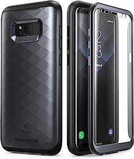 Clayco Galaxy S8+ ケース フロントフィルム付き全面保護 (2017 Release)(black)