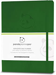 Sponsored Ad - Dark Green Softcover Undated Day Pro Planner - Best Daily Planner for Happiness & Productivity - 6 Month Ca... photo