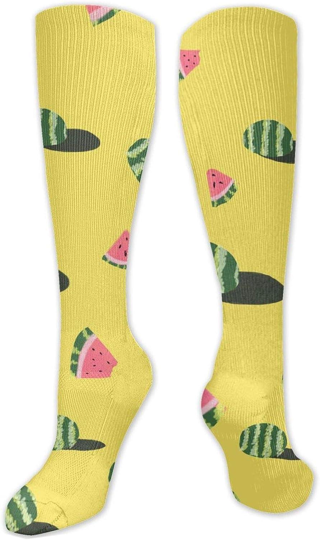 Summer Watermelon Knee High Socks Leg Warmer Dresses Long Boot Stockings For Womens Cosplay Daily Wear