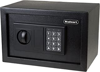 Digital Safe – Electronic Steel Safe with Keypad, 2 Manual Override Keys – Protect Money, Jewelry, Passports – For Home, B...