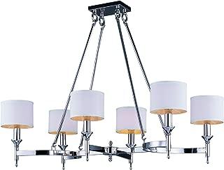 Maxim Lighting 22376WTPN Single-Tier Fairmont 6-Light Chandelier