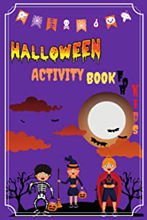 halloween activity book for kids ages 6-12 years old: Sudoku, Mazes, Word puzzle, TIC-TAC-TOE, ABC path, and Hangman