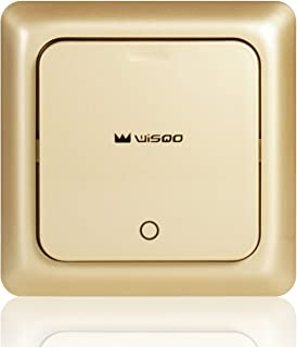 WisQo Wireless Light Switch. Works with WisQo Receiver. Add a Remote Switch for Your Light Easily. Avoid Chasing Wires int...