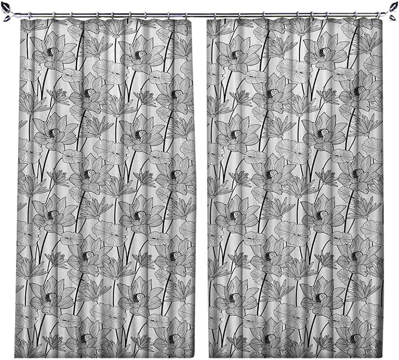 Pleated Heat Insulation Lotus Style Curtains 55% OFF Ill Sketch Max 59% OFF