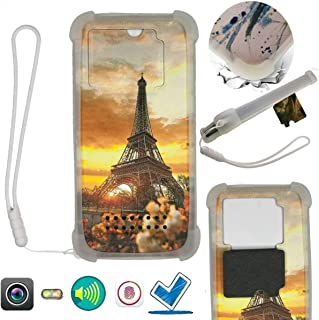 Case For Tecno Spark 4 Lite Case Silicone border + PC hard backplane Stand Cover WXTT