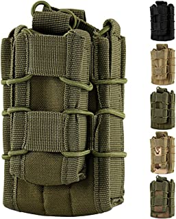 Hoanan Double Mag Pouch, Tactical Molle Magazine Pouch Open-Top Single Rifle Pistol Mag Pouch Cartridge Clip Pouch Hunting Bag