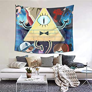 Yellowbiubiubiu Gravity Falls Tapestry - Manteles grandes para dormitorio, sala de estar, dormitorio, decoración del hogar, tapices para colgar en la pared, 60 x 51 pulgadas
