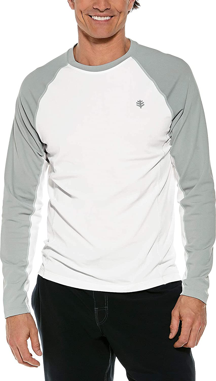 Coolibar UPF 50+ Men's Hightide Long Sleeve Swim Shirt - Sun Protective