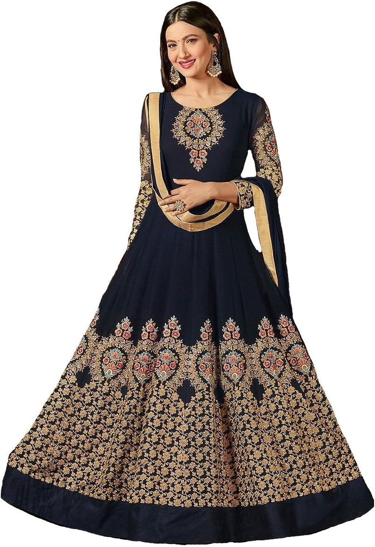 Delisa Beauty Embroidery Salwar Kameez Womens Indian Dress Ready to Wear Salwar Suit SAJAWAT