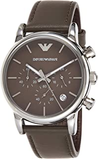 Emporio Armani for Men - Casual Leather Band Watch - AR1734