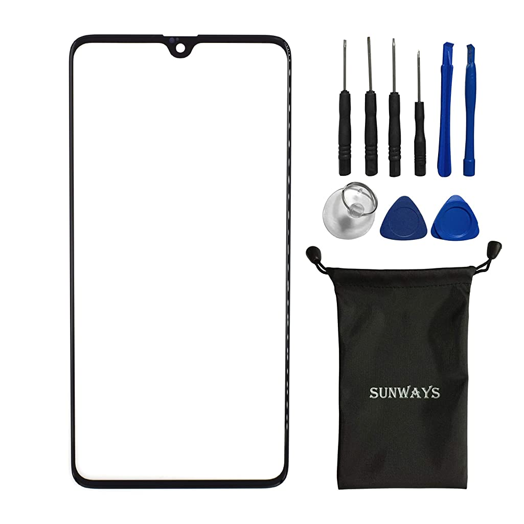 sunways Outer Glass Screen Replacement Compatible with Huawei Mate 20(Black)