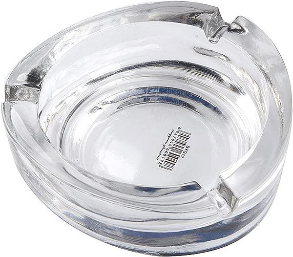 Saim 椭圆水晶玻璃烟灰缸吸烟户外外装饰月月