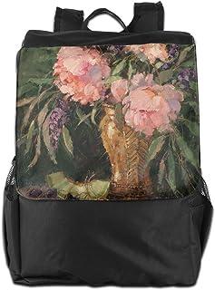 YZY YZY バックパック 花 ぶどう メロン すもも 大容量 リュックサック ナップザック 多機能バッグ デイパック ショルダーバッグ