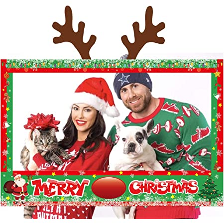 DIGITAL OR PRINTED Christmas photo cut out board Holiday party decoration Christmas party decorations rustic Christmas photo booth frame