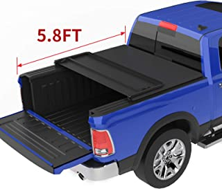 oEdRo Upgraded Soft Tri-fold Truck Bed Tonneau Cover On Top Compatible for 2019 Dodge Ram 1500 New Body with 5.8 Feet Bed, Fleetside (Without Ram Box)